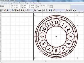Clockface for laser engraver or cnc plasma