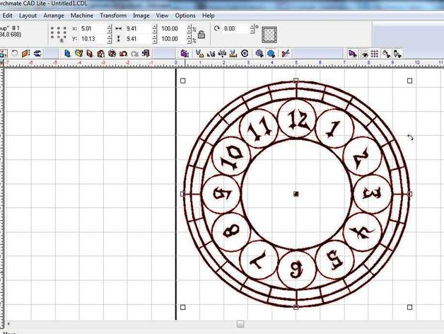 Clockface for laser engraver or cnc plasma by metzindistries