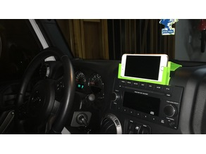 Faceplate Dash Bracket for Iphone 6 ( 2015 Jeep Wrangler)