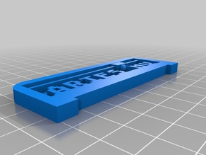 My Customized 3D Printing Text Plate