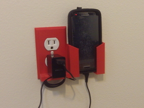 Wall Outlet Plate Smartphone (Larger Phones)
