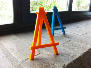 Mini caballete easel - prints in one piece