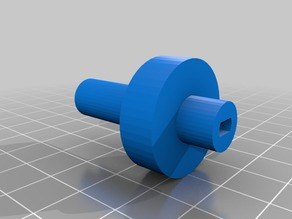 Axle with a key for 28BYJ-48 stepper motor
