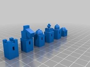 Modernist Chess Set (Piece Sample)