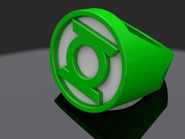 Green Lantern Ring By Itchyd Thingiverse