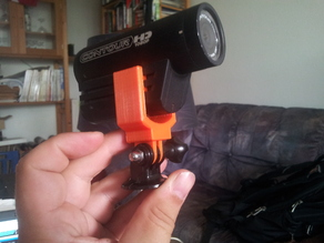 ContourHD mount with GoPro adapter