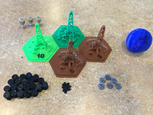 graphic about Settlers of Catan Printable called Oil Springs of Catan 3D Printable Package through MDesigner423