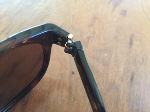 Glasses replacement arm hinge