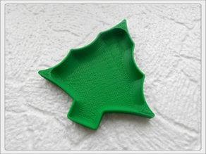 Christmas tree plate.