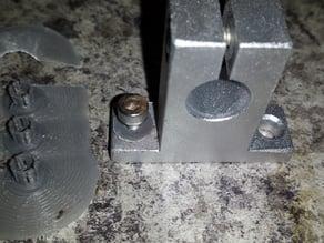 12MM linear rail/rod clamp bolt sleeve  M4 bolt in 5mm diameter hole