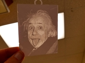 Einstein Lithophane