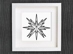 Customizable Origami Moravian Star