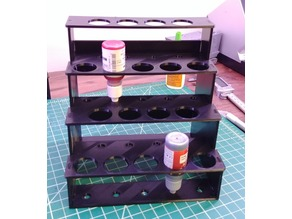 Modular Hobby Paint Rack - Small Straight