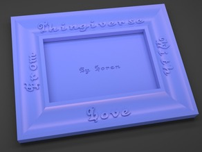Coved Picture Frame -- Customizable