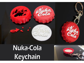 Fallout Nuka Cola keychain (two parts)
