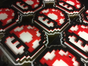 Single Piece, 3 Color, 8-bit Mario Mushroom