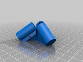 Corner joint for aluminum tubes