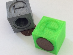 25mm penny & arch calibration cube
