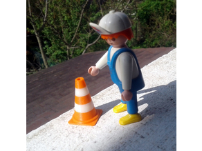 Traffic cone Playmobil Scalextric
