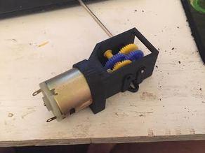 9-18V Motor (RadioShack) Gearbox
