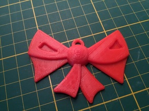 Remix bow ornament