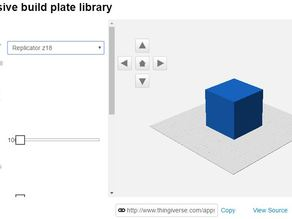 sneak peak of More inclusive build plate library, Replicator Z18