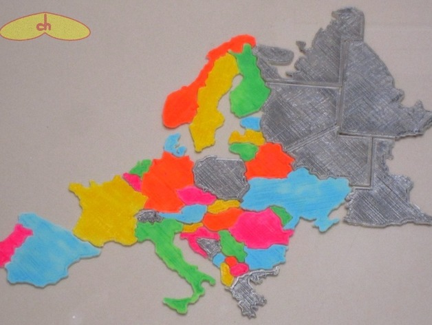 Europe map puzzle by chapulina thingiverse gumiabroncs Choice Image