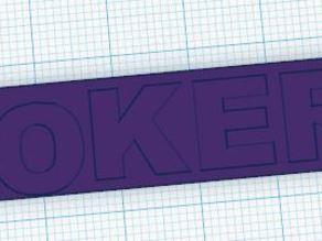 Joker bag tag