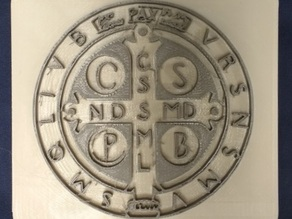 Benedictine Medal Plate Thin