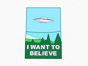 X Files- 3d I want to believe poster