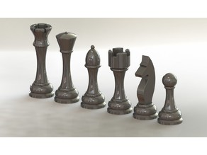 3D Printable Chess Pieces