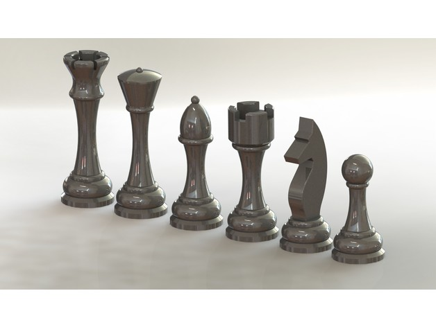 photograph relating to Printable Chess Pieces called 3D Printable Chess Parts through sivakaman - Thingiverse