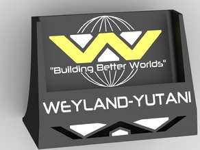 Weyland-Yutani inspired stand for Sony Xperia Z1 (and should work with Z2, 3, 3+ and 5)