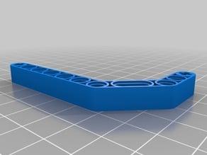 LegoTechnic: Double Angular Beam Customizable