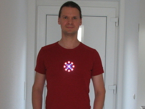 arc reactor prop with led light
