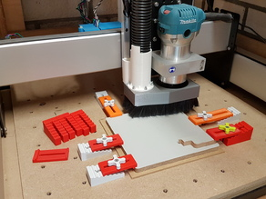 Low profile step block clamps for CNC