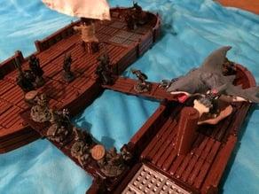 28mm miniature Boat Tiles