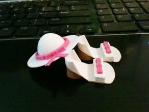 Girlie Sandals & Hat for Corkasaurus Rex