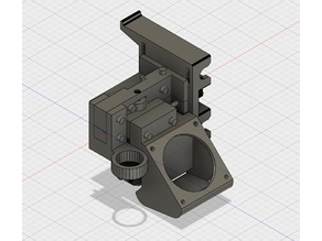 E3D V6 Mount with Fan Duct and Sensor Holder for CTC Prusa i3 Pro B