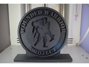 Wounded Warrior Logo with Stand for Memorial Day