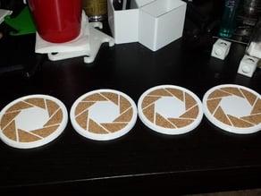 Aperture Science coasters