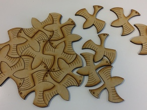 Tesselating Bird based on the works of M C Escher