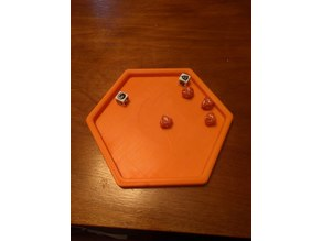 Hexagonal Dice Tray (with Myth flame)