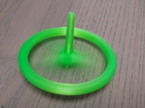 spinning top / gyroscope, three-part, can be assembled without gluing