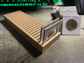 "Coin Tray for 2"" x 2"" Cardboard Coin Flips"