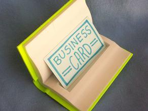 Open Book Business Card Holder