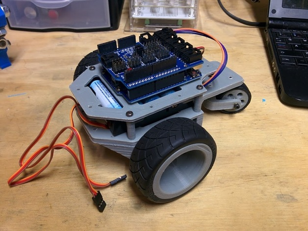 Arduino robot chassis by outcastrc thingiverse