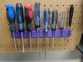 Magnetic Pegboard Screwdriver Rack