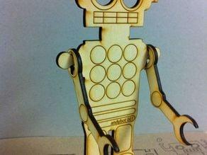 Wooden Lasercut Robot