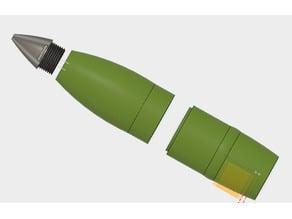 105mm Pack Howitzer Shell - Split Body
